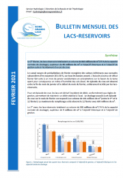 Bulletin hydrologique mensuel - Février 2021 - EPTB Seine Grands Lacs