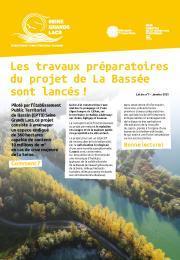La Bassée - Lettre d'information n°1 - Janvier 2021 - Lancement des travaux préparatoires