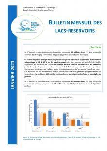 Bulletin hydrologique mensuel - Janiver 2021 - EPTB Seine Grans Lacs