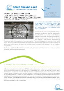 15 juillet 2021 - Précipitations - Point de situation - EPTB Seine Grands Lacs