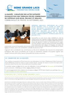 LA BASSÉE - SIGNATURE DES ACTES NOTARIÉS D'ACQUISITION DES TERRAINS PRIVÉS COMMUNAUX DE CHÂTENAY-SUR-SEINE, ÉGLIGNY ET GRAVON
