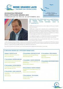 Un nouveau Président pour l'EPTB Seine Grands Lacs
