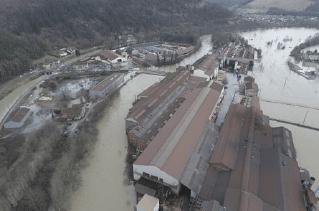 Crue de la Marne à Vecqueville en janvier 2018