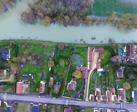 Périmètre du PAPI complet de Troyes et de la Seine supérieure - Digue de Fouchy durant les inondations de janvier 2018 - EPTB Seine Grands Lacs