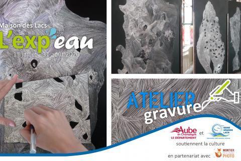 Ateliers de gravure sur Plexiglas proposés par l'artiste Lorène ROULEAU à la Maison des Lacs de Mesnil-Saint-Père