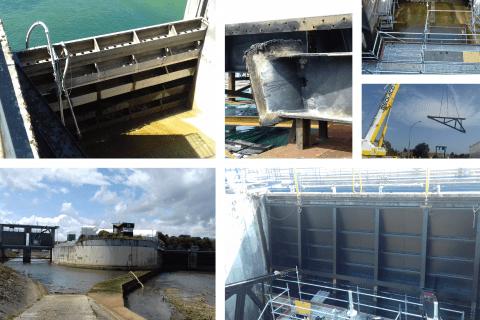 Rénovation des 3 vannes de la prise d'eau Marne à Saint-Dizier - EPTB Seine Grands Lacs