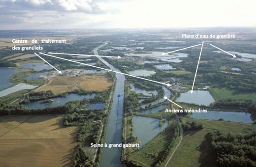 Vue aérienne de la Bassée aval