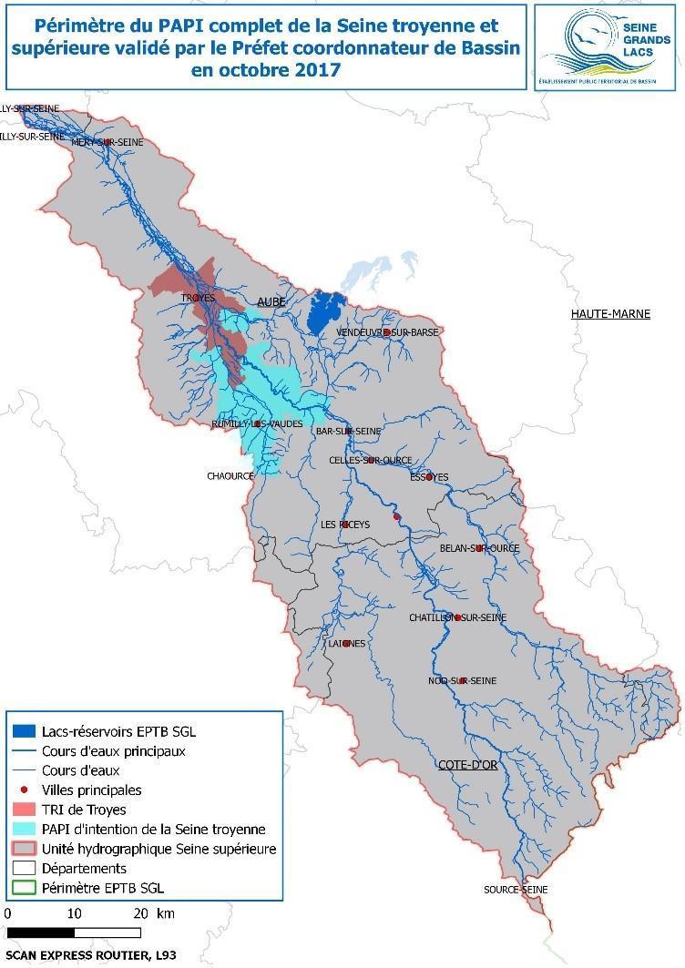 Périmètre du PAPI complet de Troyes et de la Seine supérieure - EPTB Seine Grands Lacs