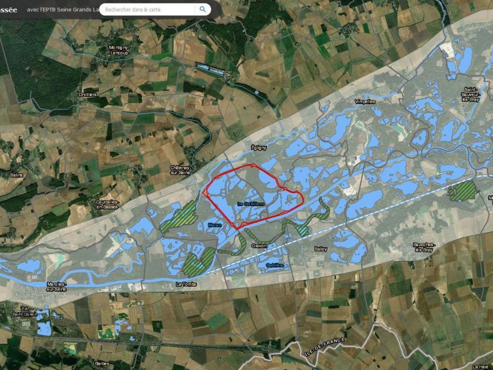 Cartographie site pilote de la bassée